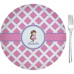 Diamond Print w/Princess Glass Appetizer / Dessert Plates 8