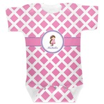 Diamond Print w/Princess Baby Bodysuit (Personalized)