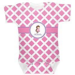 Diamond Print w/Princess Baby Bodysuit (Personalized)