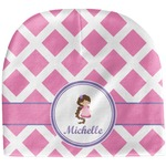 Diamond Print w/Princess Baby Hat (Beanie) (Personalized)