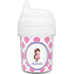 Diamond Print w/Princess Baby Sippy Cup (Personalized)