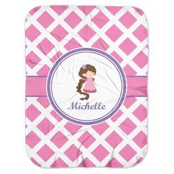 Diamond Print w/Princess Baby Swaddling Blanket (Personalized)