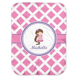 Diamond Print w/Princess Baby Swaddling Blanket (Personalized)