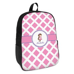 Diamond Print w/Princess Kids Backpack (Personalized)