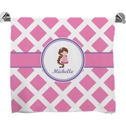 Diamond Print w/Princess Full Print Bath Towel (Personalized)