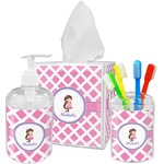 Diamond Print w/Princess Bathroom Accessories Set (Personalized)