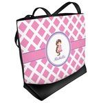 Diamond Print w/Princess Beach Tote Bag (Personalized)