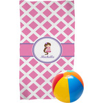 Diamond Print w/Princess Beach Towel (Personalized)