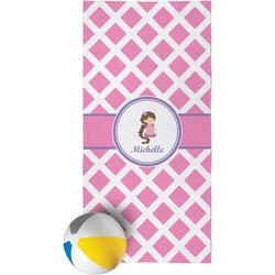 Diamond Print w/Princess Beach Towel (Personalized)