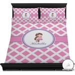 Diamond Print w/Princess Duvet Cover Set (Personalized)