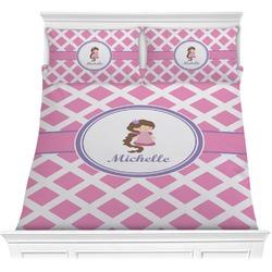 Diamond Print w/Princess Comforter Set (Personalized)