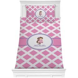 Diamond Print w/Princess Comforter Set - Twin (Personalized)