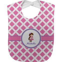 Diamond Print w/Princess Baby Bib (Personalized)