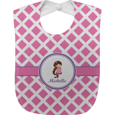 Diamond Print w/Princess Baby Bib (Personalized)