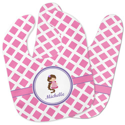 Diamond Print w/Princess Baby Bib w/ Name or Text