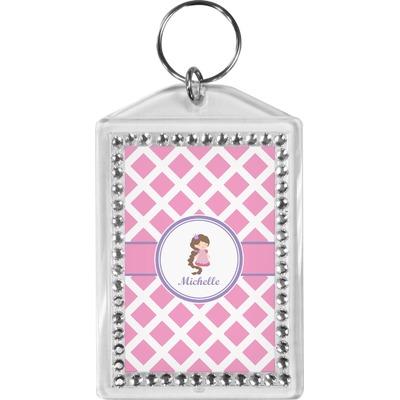 Diamond Print w/Princess Bling Keychain (Personalized)