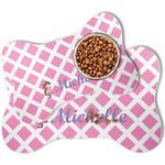 Diamond Print w/Princess Bone Shaped Dog Food Mat (Personalized)