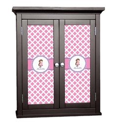 Diamond Print w/Princess Cabinet Decal - Custom Size (Personalized)
