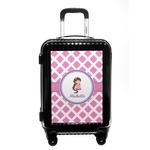 Diamond Print w/Princess Carry On Hard Shell Suitcase (Personalized)