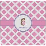 Diamond Print w/Princess Ceramic Tile Hot Pad (Personalized)