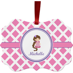 Diamond Print w/Princess Ornament (Personalized)