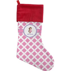 Diamond Print w/Princess Christmas Stocking (Personalized)