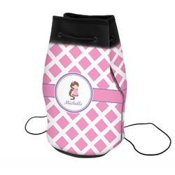 Diamond Print w/Princess Neoprene Drawstring Backpack (Personalized)