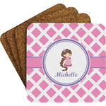 Diamond Print w/Princess Coaster Set w/ Stand (Personalized)