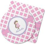 Diamond Print w/Princess Rubber Backed Coaster (Personalized)