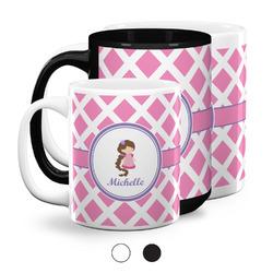 Diamond Print w/Princess Coffee Mugs (Personalized)
