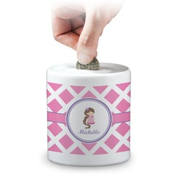 Diamond Print w/Princess Coin Bank (Personalized)