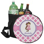 Diamond Print w/Princess Collapsible Cooler & Seat (Personalized)