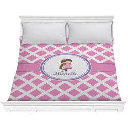 Diamond Print w/Princess Comforter - King (Personalized)