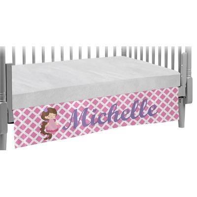 Diamond Print w/Princess Crib Skirt (Personalized)