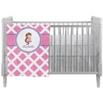 Diamond Print w/Princess Crib Comforter / Quilt (Personalized)