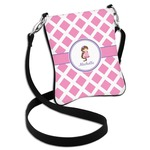 Diamond Print w/Princess Cross Body Bag - 2 Sizes (Personalized)