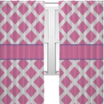 Diamond Print w/Princess Curtains (2 Panels Per Set) (Personalized)