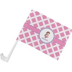 Diamond Print w/Princess Car Flag (Personalized)