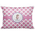 "Diamond Print w/Princess Decorative Baby Pillowcase - 16""x12"" (Personalized)"