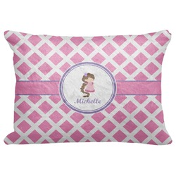 "Diamond Print w/Princess Decorative Baby Pillowcase - 16""x12"" (Personalized)"