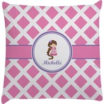 Diamond Print w/Princess Decorative Pillow Case (Personalized)