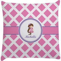 Diamond Print w/Princess Decorative Pillow Case (Personalized)