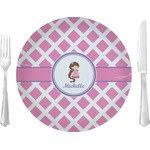 Diamond Print w/Princess Glass Lunch / Dinner Plates 10