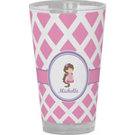 Diamond Print w/Princess Drinking / Pint Glass (Personalized)