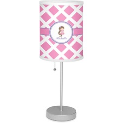 "Diamond Print w/Princess 7"" Drum Lamp with Shade (Personalized)"