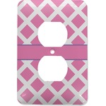 Diamond Print w/Princess Electric Outlet Plate (Personalized)