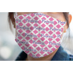Diamond Print w/Princess Face Mask Cover (Personalized)