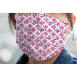 Diamond Print w/Princess Face Mask Cover (Personalized)