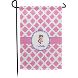 Diamond Print w/Princess Garden Flag - Single or Double Sided (Personalized)
