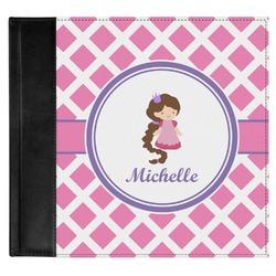 Diamond Print w/Princess Genuine Leather Baby Memory Book (Personalized)